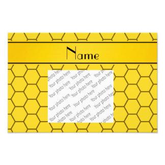 Panal amarillo conocido personalizado impresiones fotográficas