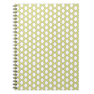 panal amarillo libro de apuntes con espiral
