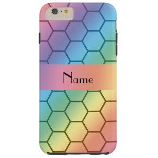Panal conocido personalizado del arco iris funda para iPhone 6 plus tough