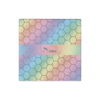 Panal conocido personalizado del arco iris imán de piedra