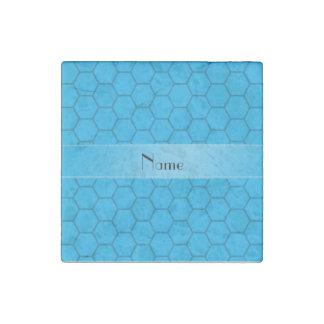 Panal conocido personalizado del azul de cielo imán de piedra