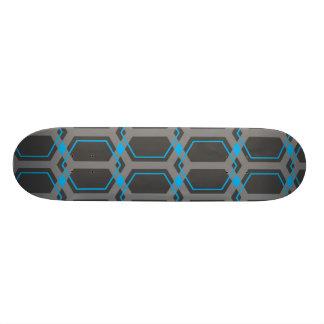 Panal (Cyan) Skateboard Deck