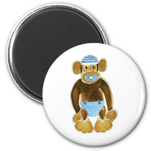 Pañal del mono del bebé imán de frigorifico