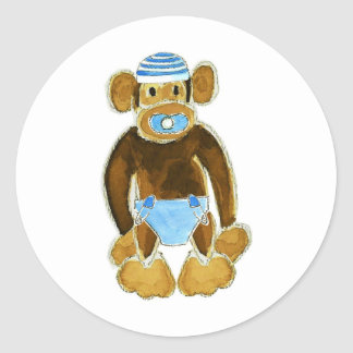 Pañal del mono del bebé pegatina