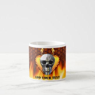 Panal del rojo de la manzana del cráneo y de caram tazita espresso