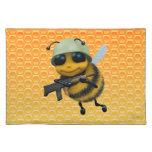 Panal lindo del soldado de la abeja 3d manteles