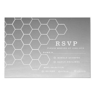 """Panal moderno el   RSVP Invitación 3.5"""" X 5"""""""