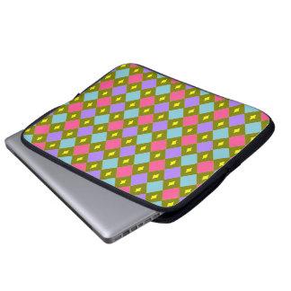 Panal multicolor usted crea el bolso del ordenador funda computadora