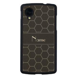 Panal negro conocido personalizado funda de nexus 5 carved® slim de arce