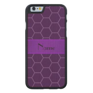 Panal púrpura conocido personalizado funda de iPhone 6 carved® de arce