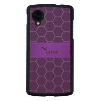 Panal púrpura conocido personalizado funda de nexus 5 carved® slim de arce