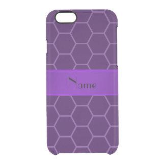 Panal púrpura conocido personalizado funda clearly™ deflector para iPhone 6 de uncommon