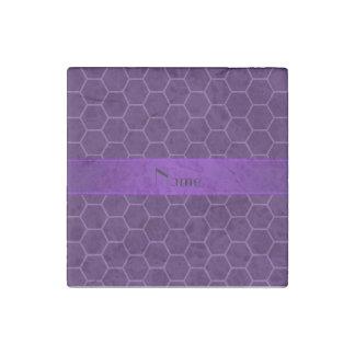 Panal púrpura conocido personalizado imán de piedra