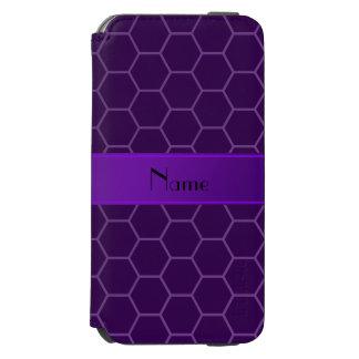 Panal púrpura conocido personalizado funda billetera para iPhone 6 watson