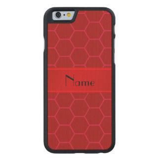 Panal rojo conocido personalizado funda de iPhone 6 carved® slim de arce