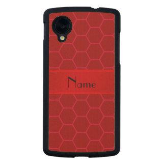 Panal rojo conocido personalizado funda de nexus 5 carved® de arce