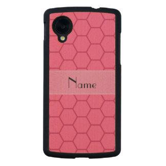 Panal rosado conocido personalizado funda de nexus 5 carved® de arce