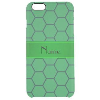 Panal verde conocido personalizado funda clearly™ deflector para iPhone 6 plus de unc