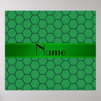 Panal verde conocido personalizado impresiones