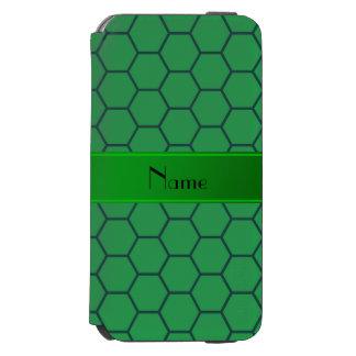 Panal verde conocido personalizado funda billetera para iPhone 6 watson