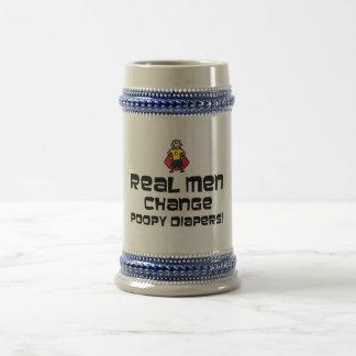Pañales reales de Poopy del cambio de los hombres Taza De Café