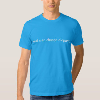 pañales reales del cambio de los hombres camisas
