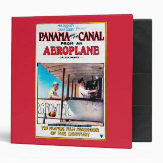 Panama and the Canal Aeroplane Movie Promo Poste 3 Ring Binder