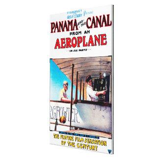 Panama and the Canal Aeroplane Movie Promo Poste Canvas Prints