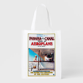 Panama and the Canal Aeroplane Movie Promo Poste Grocery Bag