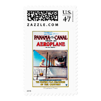 Panama and the Canal Aeroplane Movie Promo Poster Postage