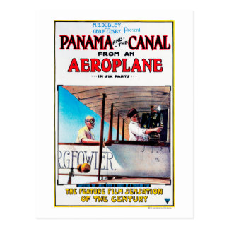 Panama and the Canal Aeroplane Movie Promo Poster Postcard
