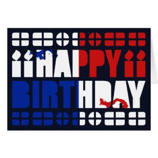 Panama Banner Birthday Card