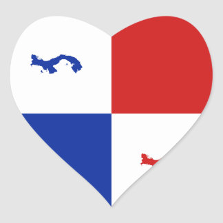 Panama Banner Heart Sticker