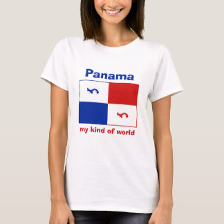 Panama Banner + Map + Text T-Shirt