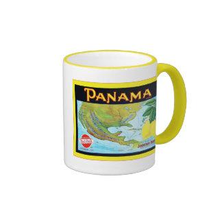 Panama Brand ~ Vintage Fruit Crate Label Ringer Mug