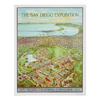 Panama - California Exposition in San Diego 1915 Poster