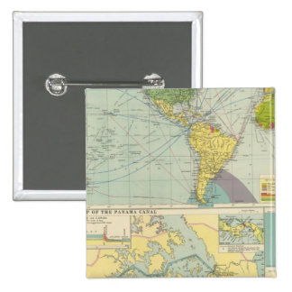 Panama Canal 2 Inch Square Button
