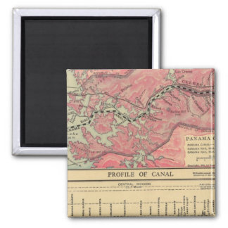Panama Canal 2 Inch Square Magnet