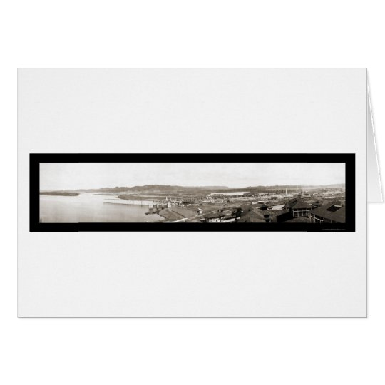 Panama Canal Entrance Photo 1913 Card