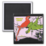 Panama Canal Parrots 2 Inch Square Magnet