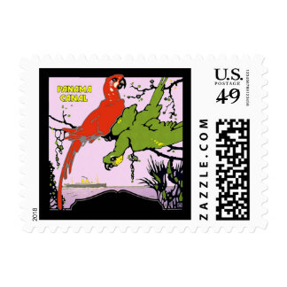 Panama Canal Parrots Postage Stamp