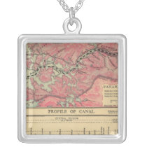 Panama Canal Silver Plated Necklace