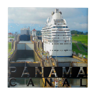 Panama Canal Souvenir Ceramic Tile