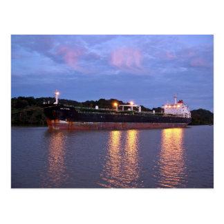 Panama Canal Sunrise Postcard