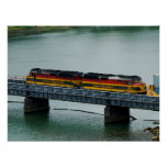 Panama Canal Train Poster