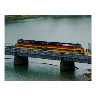 Panama Canal Train Print