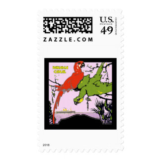 Panama Canal Vintage Travel Postage Stamps