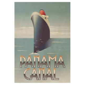 Panama Canal Wood Poster