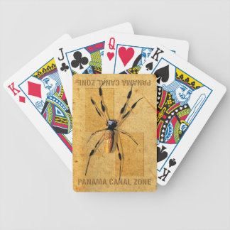 Panama Canal Zone Playing Cards with Spider