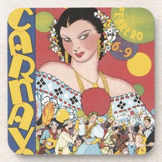 Panama Carnaval 1937 Drink Coasters